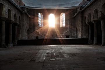 Poster Edifice religieux interior of Hagia Irene church (Aya Irini) in the park of Topkapi Palace - Istanbul, Turkey