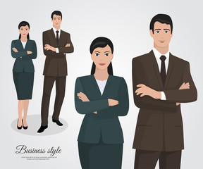 Business woman and business man Business Team
