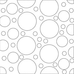 dotted shape circle design memphis style background