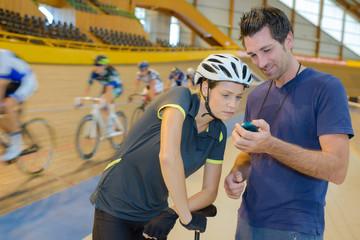 at the biking circuit