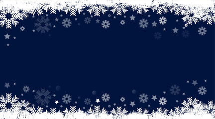 card Christmas background, blue background Happy New Year