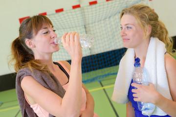 finishing a bottle of water