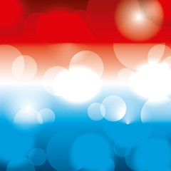 flag american colors blurred glowing background vector illustration
