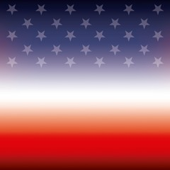 american flag stars color blur background vector illustration
