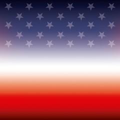 american flag stars color blur background vector illustration