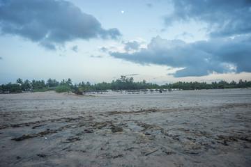 Sandy  beach on indian ocean in Kenya