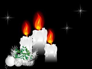 Fototapete - Three candles