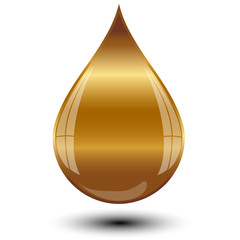 Vector illustration of gold drop