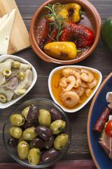 Spanish tapas on table