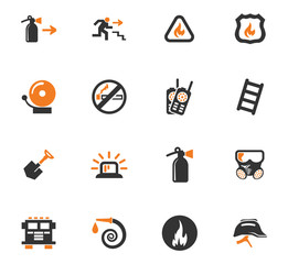 Fire-brigade icon set