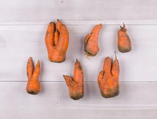 Odd shaped carrots