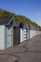 Beach Huts at Pakefield, Suffolk, England