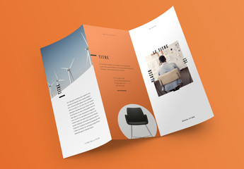Mise en page de brochure pop