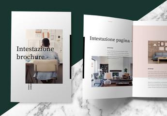 Layout brochure pastello