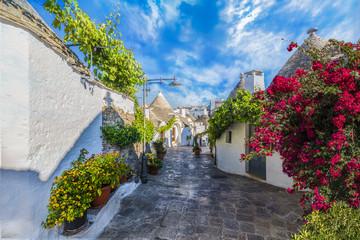 Wall Mural - Trulli houses in Alberobello city, Apulia, Italy.