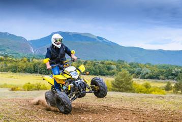 Offroad ATV motorbike  stunt