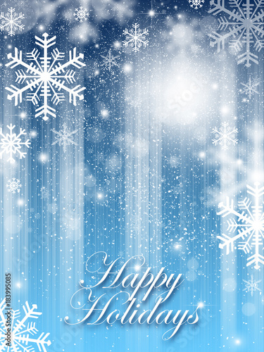 Happy holidays greetings winter background with snowflakes stock happy holidays greetings winter background with snowflakes m4hsunfo