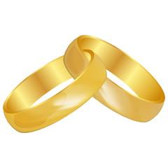 Vector illustration of Wedding rings