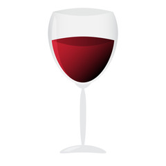 Vector illustration of Glass of wine