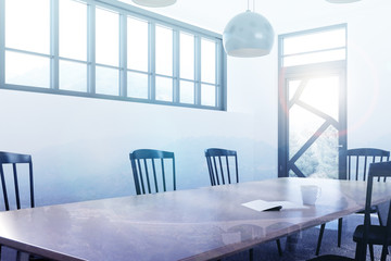 White dining room corner toned