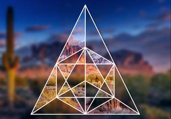 Masques images géométriques imbriquées