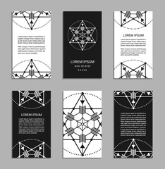 Sacred geometry flyers