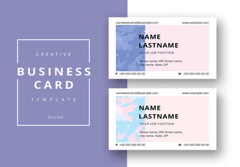 Abstract Patterned Business Card Layout 4