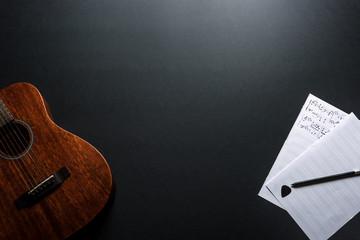 Musician's Desk. Top View