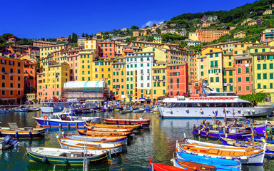 Colorful Old Town of Camogli by Genoa, Liguria, Italy
