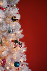 A White Christmas Tree With Vintage Inspired Ornaments