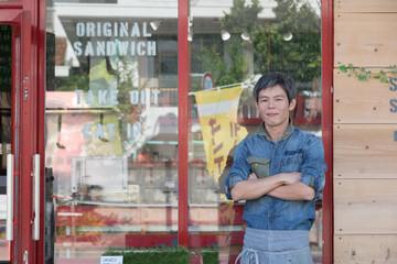 街のサンドイッチカフェ