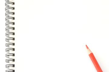 ノート 赤鉛筆