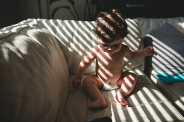 Baby in the light