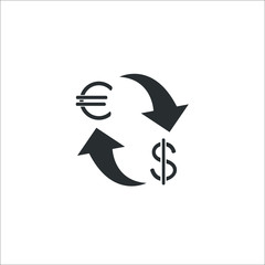 Currency exchange icon. Vector Illustration