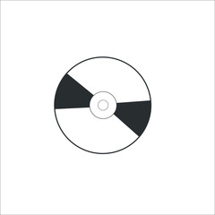 Compact Disk icon. Vector Illustration