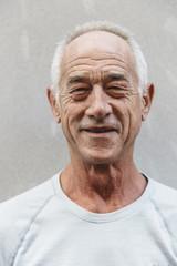Portait of Senior Man in City