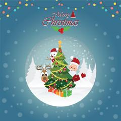 Merry Christmas Greeting Card with Christmas Santa Claus4