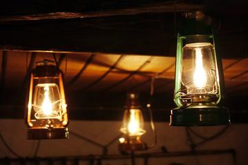 The kerosene lamp.
