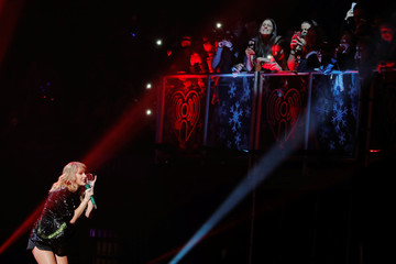 Singer Taylor Swift performs during the 2017 Jingle Ball at Madison Square Garden in New York