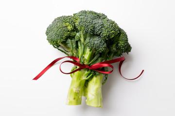 Christmas Broccoli with Bow
