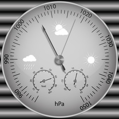 Barometer for determining atmospheric pressure