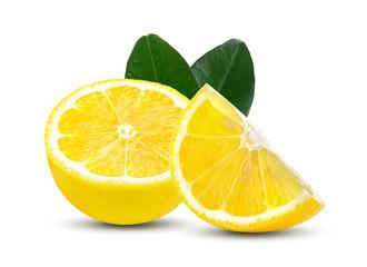 lemon Slice  fruit isolated on white background