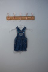 Dungaree hanging on hook