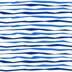 Blue horizontal striped christmas seamless pattern