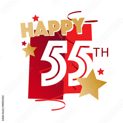 Happy 55th Birthday Stock Image And Royalty Free Vector Files On