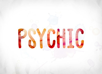 Psychic Concept Painted Watercolor Word Art