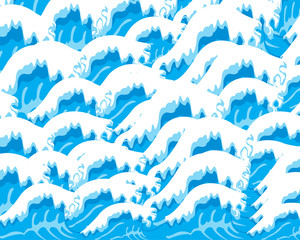 Background from waves