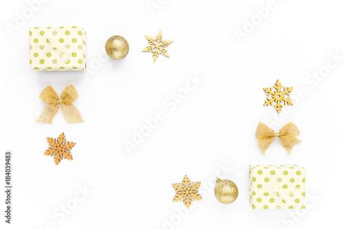 christmas border frame composition frame made of christmas gold