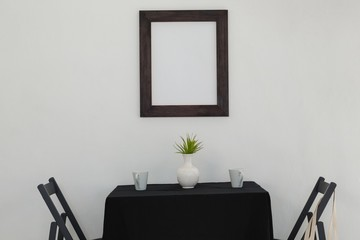 Table setting and picture frame