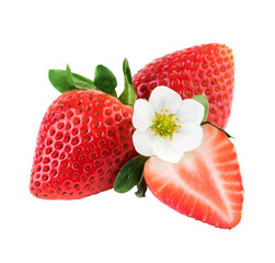 Strawberries fresh strawberry isolated on white with clipping path